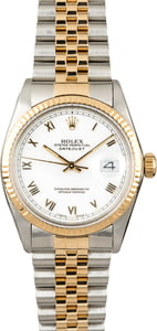 PreOwned Rolex Datejust 16013 White Roman Dial