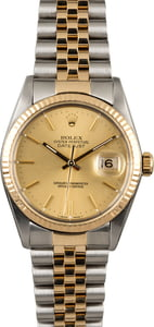 Rolex Datejust 16013 Two Tone Jubilee Watch