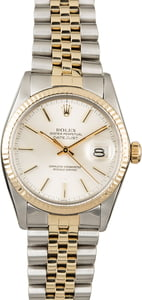 Rolex Datejust 16013 Silver Dial Two Tone Watch
