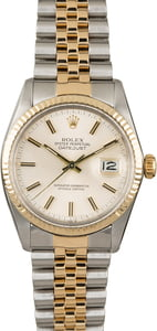 Used Rolex Datejust 16013 Silver Dial Men's Watch
