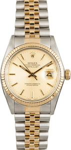 Used Rolex Datejust 16013 Champagne Tapestry Dial