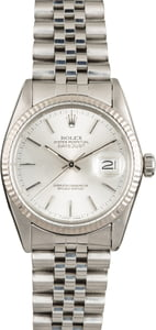 Used Rolex Datejust 16014 Silver Dial