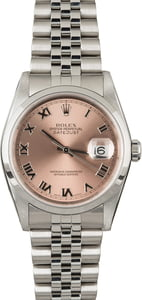 PreOwned Rolex Datejust 16200 Silver Dial Steel Oyster