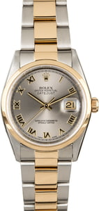 Used Rolex Datejust 16203 Rhodium Roman Dial