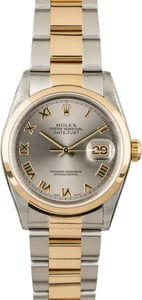 PreOwned Rolex Datejust 16203 Rhodium Dial