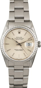 Men's Rolex Datejust 16220 Silver Index Dial