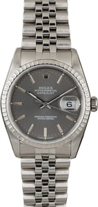 PreOwned Rolex Datejust 16220 Steel Jubilee