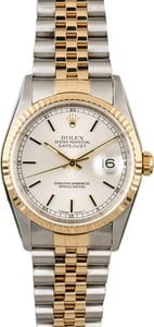 Used Rolex Datejust 16233 Silver Index Dial