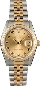 Pre-Owned Rolex Datejust 16233 Champagne Roman Dial
