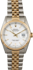 PreOwned Rolex Datejust 16233 White Luminous Dial