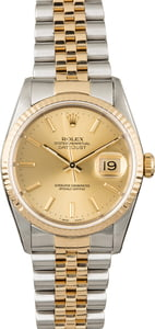 Used Rolex Datejust 16233 Champagne Dial Jubilee