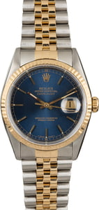 Two Tone Rolex Datejust 16233 Blue Dial
