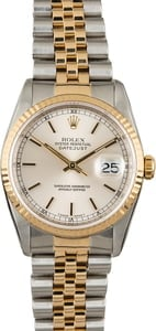 Used Rolex Datejust 16233 Two Tone Jubilee Bracelet