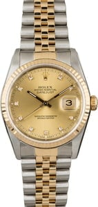 Used Rolex Datejust 16233 Diamond Markers