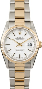 Used Rolex Datejust 16233 White Index Dial