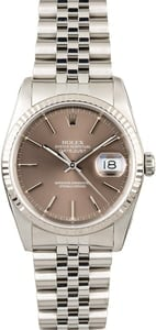 Used Rolex Datejust 16234 Slate Index Dial
