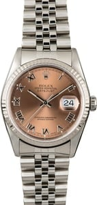 PreOwned Rolex Datejust 16234 Salmon Dial