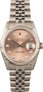 Rolex Datejust 16234 Salmon Diamond Dial