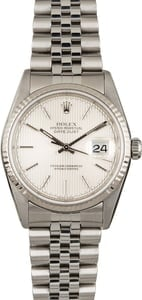 Used Rolex Datejust 16234 Silver Tapestry Dial
