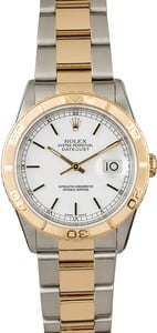 PreOwned Rolex Datejust Turn-O-Graph 16263 White Dial