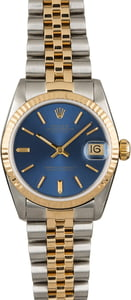 Used Rolex Datejust 68273 Blue Index Dial