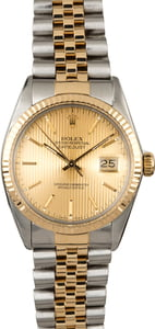 PreOwned Rolex Datejust 16013 Champagne Tapestry Index Dial