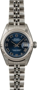 Used Rolex Datejust 79174 Blue Dial