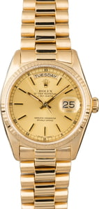 Used Rolex Day-Date 18038 Yellow Gold President