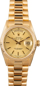 Men's Rolex Day-Date 18038 Yellow Gold Watch