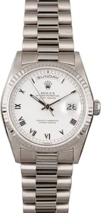 PreOwned Rolex Day-Date 18239 White Gold President