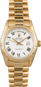 Rolex President 1803 White Buckley Dial