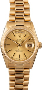 Men's Rolex President 18038 Champagne Dial