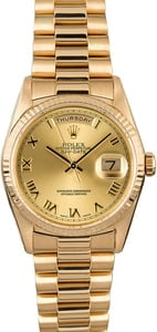 Used Rolex President 18238 Champagne Roman Dial