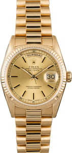 Pre-Owned Rolex President 18238 Fluted Bezel