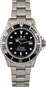 Used Rolex Sea-Dweller 16600 Black Luminous Dial