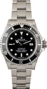 PreOwned Rolex Sea-Dweller 16600 Black Timing Bezel