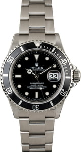 Rolex Submariner 16610 Stainless Steel No Holes Case