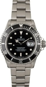 Men's Rolex Submariner 16610 Steel Diving Watch