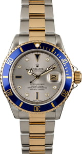 Men's Rolex Submariner 16613 Serti Dial