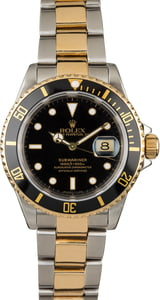 Used Rolex Submariner 16613 Black Dial Two Tone