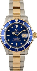 Used Rolex Submariner 16613 Blue Bezel & Dial