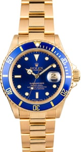 Used Rolex Submariner 18k Gold 16618