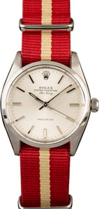 Vintage Rolex Air-King 5500 Red Nato Strap