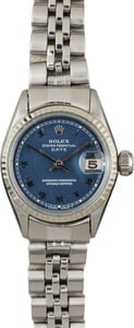 Pre-Owned Rolex Datejust 6517 Blue Roman Dial