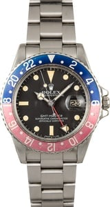 Vintage Rolex GMT-Master 1675 Faded Pepsi