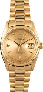 Vintage Rolex Gold Datejust 6605