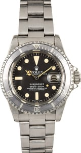 Unpolished Vintage Rolex Submariner 1680 Ghost Bezel