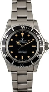 Vintage 1984 Rolex Submariner 5513 Feet First