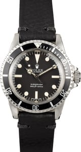 Vintage Rolex Submariner 5513 Certified Pre-Owned