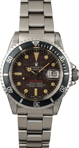 Vintage 1969 Rolex Red Submariner 1680 Tropical Dial